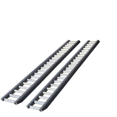 AusRamp 3 Tonne 3.5m x 425mm Aluminium Machinery Loading Ramps, Pair - Ramp Champ - Construction Machinery Loading Ramps - 4