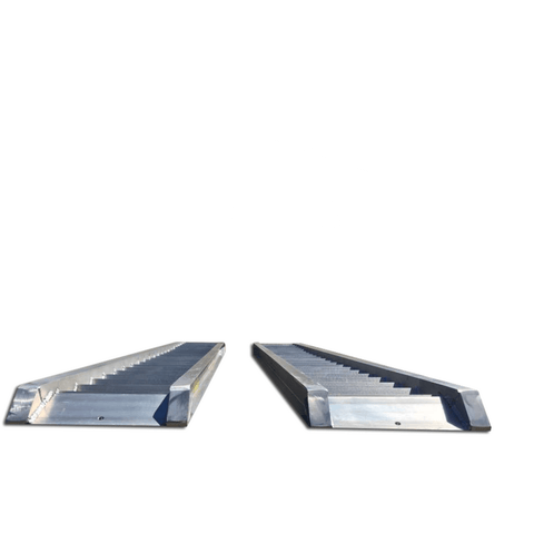 AusRamp 3 Tonne 3.5m x 425mm Aluminium Machinery Loading Ramps, Pair - Ramp Champ - Construction Machinery Loading Ramps - 2