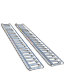 AusRamp 3 Tonne 3.5m x 425mm Aluminium Machinery Loading Ramps, Pair - Ramp Champ - Construction Machinery Loading Ramps - 1