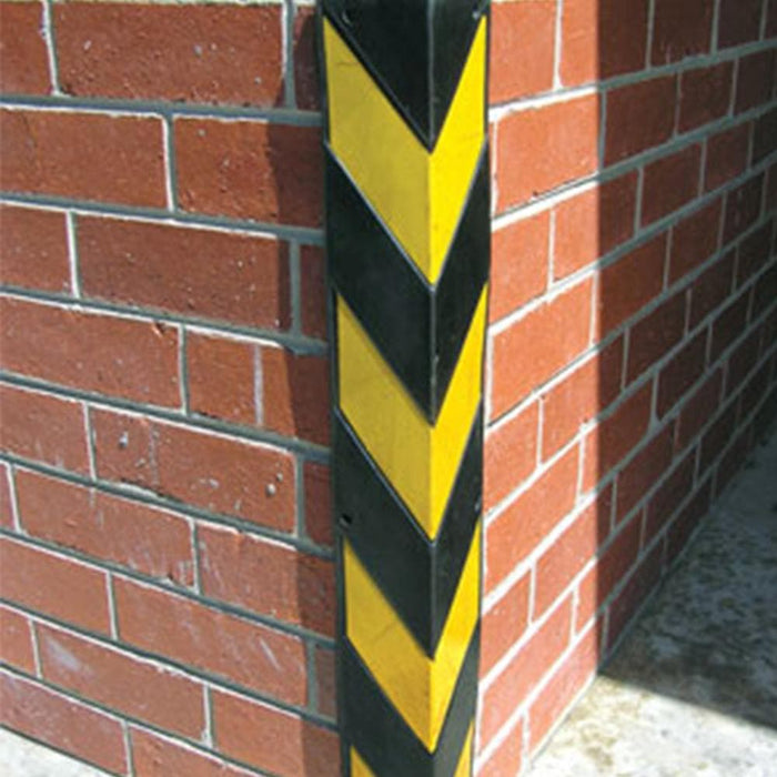 Barrier Group Corner Protector 90 x 90 x 800mm Recycled Rubber B/Y - Barrier Group - Ramp Champ