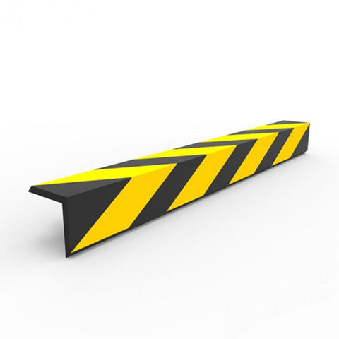 Barrier Group Corner Protector 90 x 90 x 800mm Recycled Rubber Black/Yellow