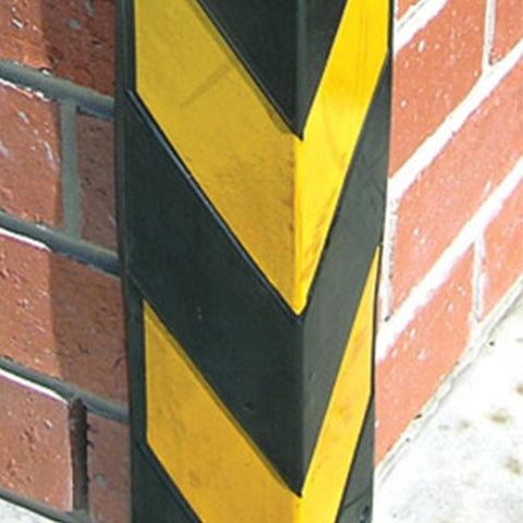 Barrier Group Corner Protector 90 x 90 x 800mm Recycled Rubber Black/Yellow - Barrier Group - Ramp Champ