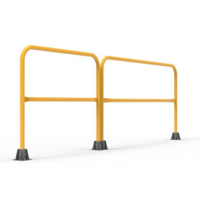 Barrier Group Double Safety Rail  - Safety Yellow - Barrier Group - Ramp Champ