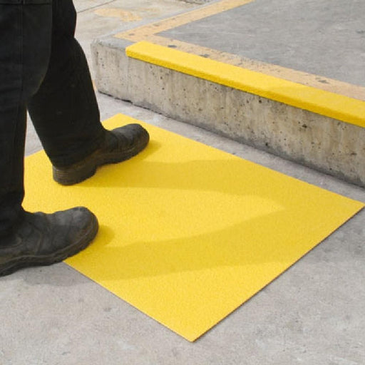 Barrier Group FRP Floor Plate - Anti-Slip, Yellow - Barrier Group - Ramp Champ