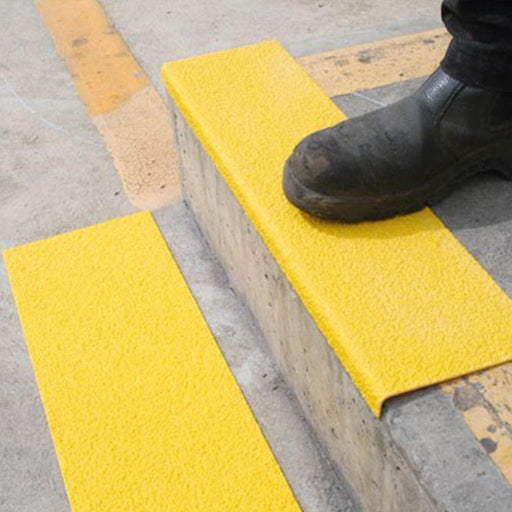 Barrier Group FRP Stair Nosing - Anti-Slip, Yellow - Barrier Group - Ramp Champ