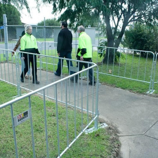 Barrier Group Galvanised Steel Modular Pedestrian Separation Fence - Barrier Group - Ramp Champ