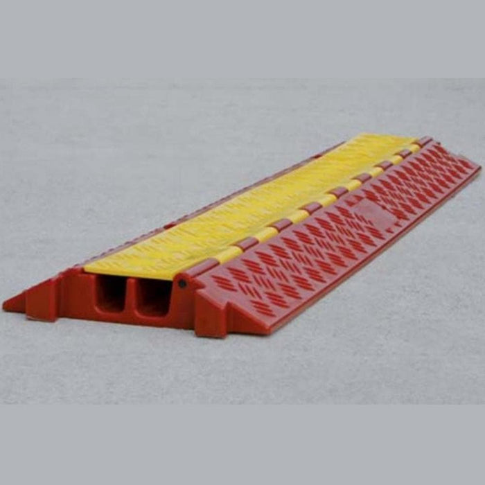Barrier Group Hinged Lid Polyurethane Cable Protector - 2 Channel - Barrier Group - Ramp Champ