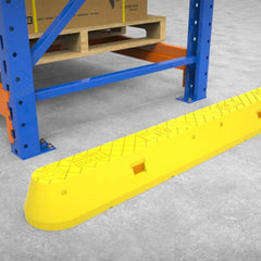 Barrier Group Menni Pallet Racking End Protector - Yellow High-Vis