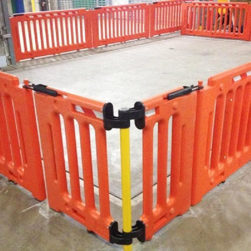 Barrier Group Post-Q Modular Post-Mounted Pedestrian Separation Fence - Barrier Group - Ramp Champ