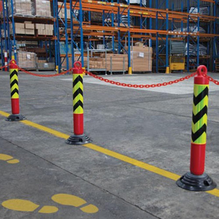 Barrier Group Rebound Bollard with Chain Loop - Two Piece - Barrier Group - Ramp Champ