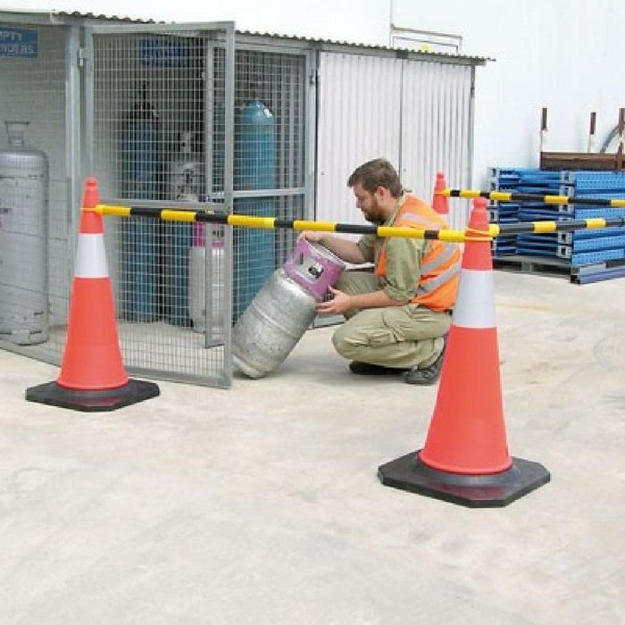 Barrier Group Retractable Cone Bar - 1.2 to 2 Metres - Barrier Group - Ramp Champ