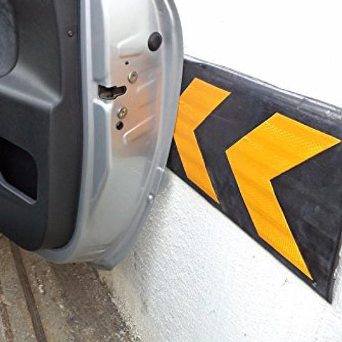 Barrier Group Wall Protector 800 x 220 x 32mm Black/Yellow - Recycled Rubber