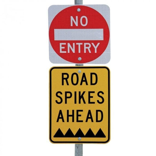 Barrier Group Awareness Sign Kit for One Way Access Road Spikes - Barrier Group - Ramp Champ