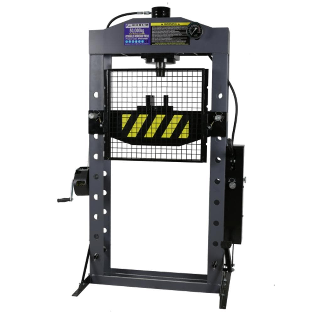 Borum Industrial 50,000kg Hydraulic Press with Grid Guard - Borum - Ramp Champ