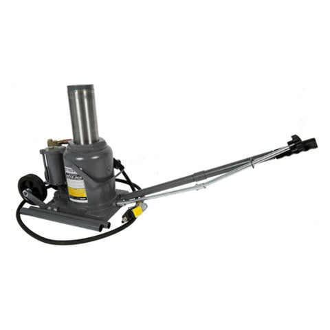 Borum Industrial Air/Hydraulic Bottle Jack on Wheels, 50,000kg - Borum - Ramp Champ