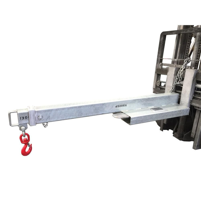 DHE 4.5-Tonne Low-Profile Jib Lifting Crane Forklift Attachment - DHE - Ramp Champ