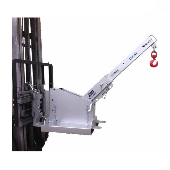 DHE 4.75-Tonne Incline Jib Lifting Crane Forklift Attachment - DHE - Ramp Champ