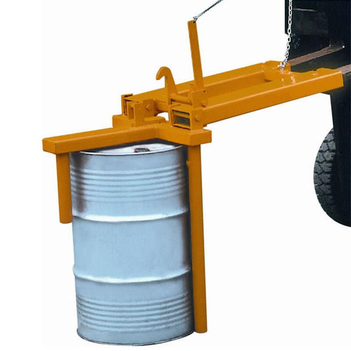 DHE Drum Positioner Horizontal to Vertical Forklift Attachment - DHE - Ramp Champ