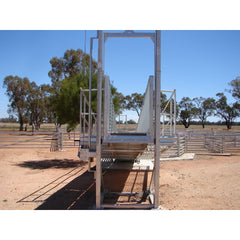 Atlex 6m Height Adjustable Permanent Sheep Loading Ramp