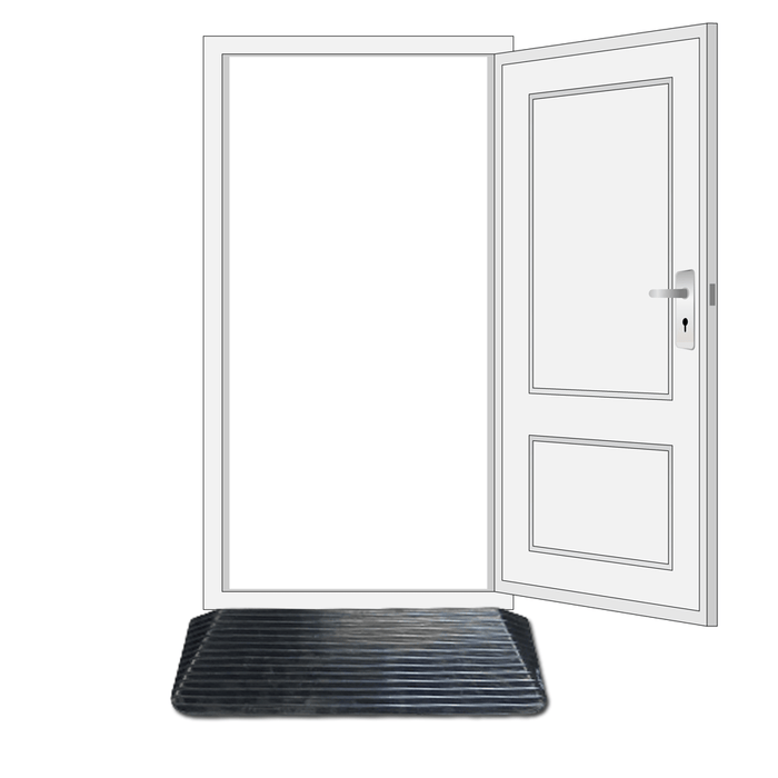 Heeve Mobility Ramps 50mm Heeve Solid Rubber Wheelchair Threshold Door Ramp With Winged Edges