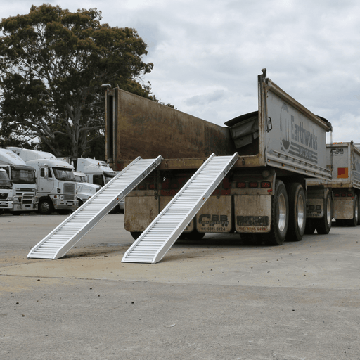 Heeve Construction & Machinery Heeve 3-Tonne 3.2m x 380mm Aluminium Loading Ramps (Open Box)