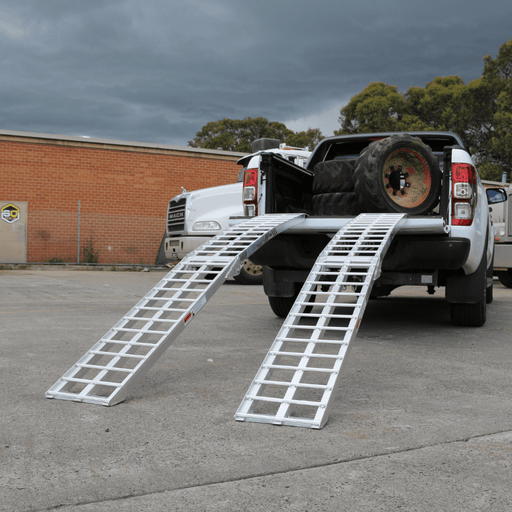 Heeve 2.3m x 1.3-Tonne Aluminium Curved Folding Heavy-Duty ATV Ramps - Heeve - Ramp Champ
