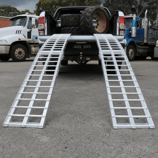 Heeve 2.3m x 1.3-Tonne Alum. Curved Folding Heavy-Duty Loading Ramps