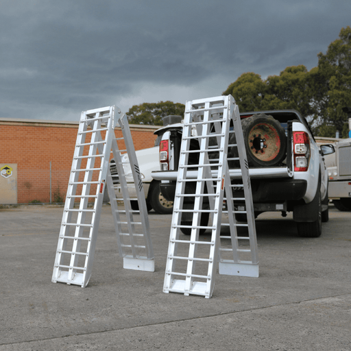 Heeve 2.3m x 1.3-Tonne Aluminium Curved Folding Heavy-Duty ATV Ramps