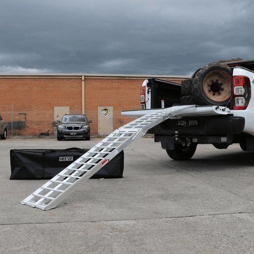 Heeve 2.3m x 680kg Aluminium Curved Folding Heavy-Duty Motorcycle Ramp - Heeve - Ramp Champ