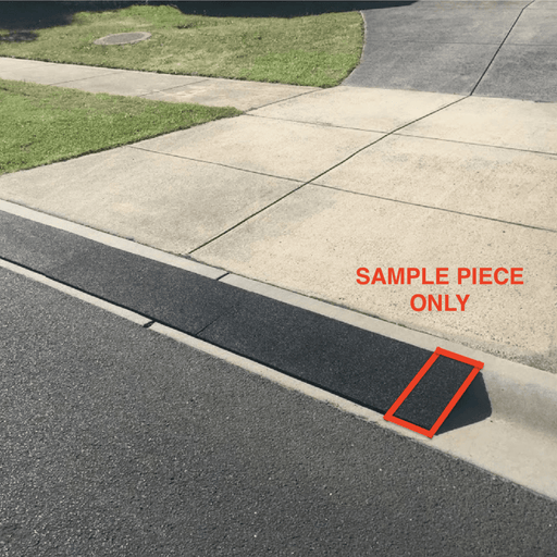 Heeve Driveway Rubber Kerb Ramp for Rolled-Edge Kerb Sample