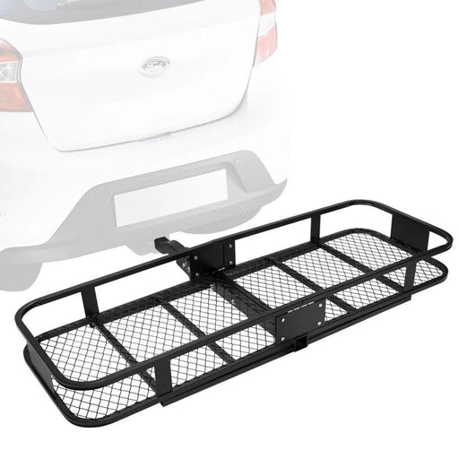 Hitch Mounted Cargo Carrier Foldable Luggage Basket Car Rack - Ramp Champ - Ramp Champ