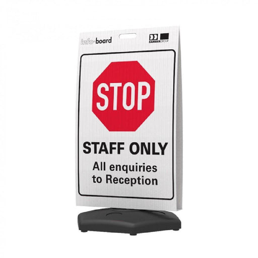 Barrier Group Info-Board Portable Awareness Signs - Barrier Group - Ramp Champ