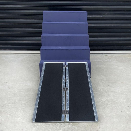 Heeve Heavy Duty Heeve Aluminium Single-Fold Super-Grip Walk Ramp, 272kg Capacity