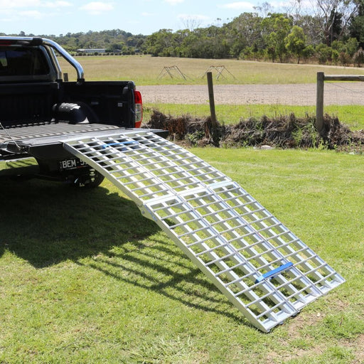 Heeve 2.3m Aluminium Curved Folding Heavy-Duty 3-Pc Loading Ramp - Heeve - Ramp Champ