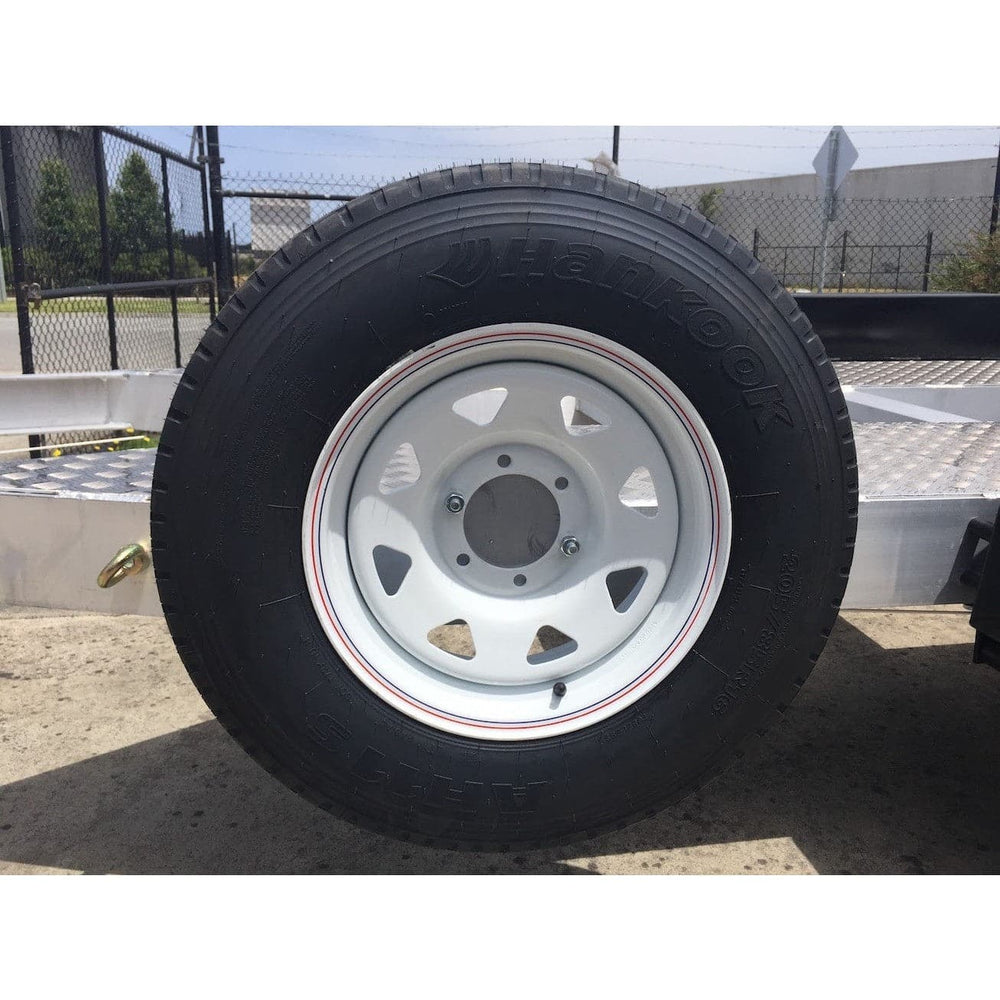 Auswide Spare Wheel & Bracket - Large Trailers - AusWide - Ramp Champ