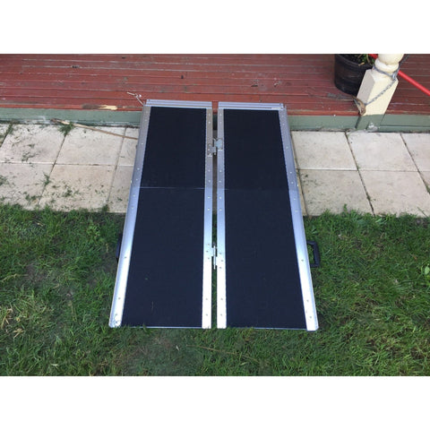 Aidapt 1,220mm Portable Aluminum Folding Suitcase Wheelchair Ramp, 272kg Capacity - Aidapt - Ramp Champ