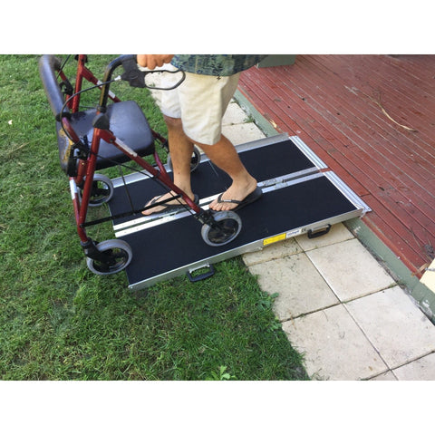 Aidapt 1,220mm Portable Aluminum Folding Suitcase Wheelchair Ramp - Aidapt - Ramp Champ