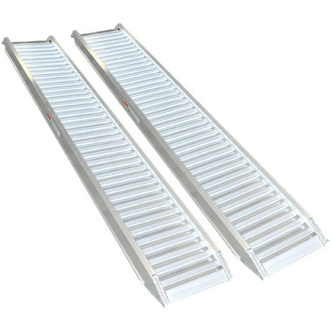 1.8-Tonne 3.2m x 380mm Aluminium Machinery Loading Ramps, Pair