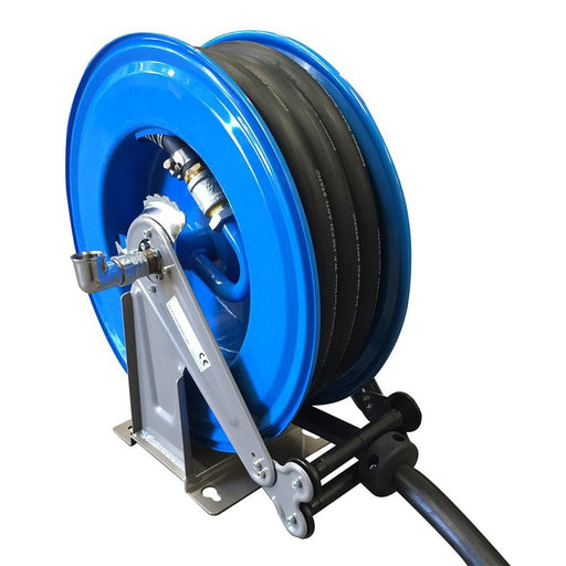 "Meclube Steel Rewind Hose Reel & Nozzle Fitted with 1"" 10-Metre Hose - Equipco - Ramp Champ"