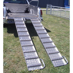 Atlex 2.1m x 300mm Aluminium Loading Ramps, Pair