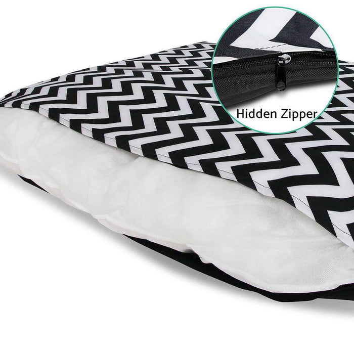 i.Pet Extra Extra Large Canvas Pet Bed - Black & White - Ramp Champ - Ramp Champ