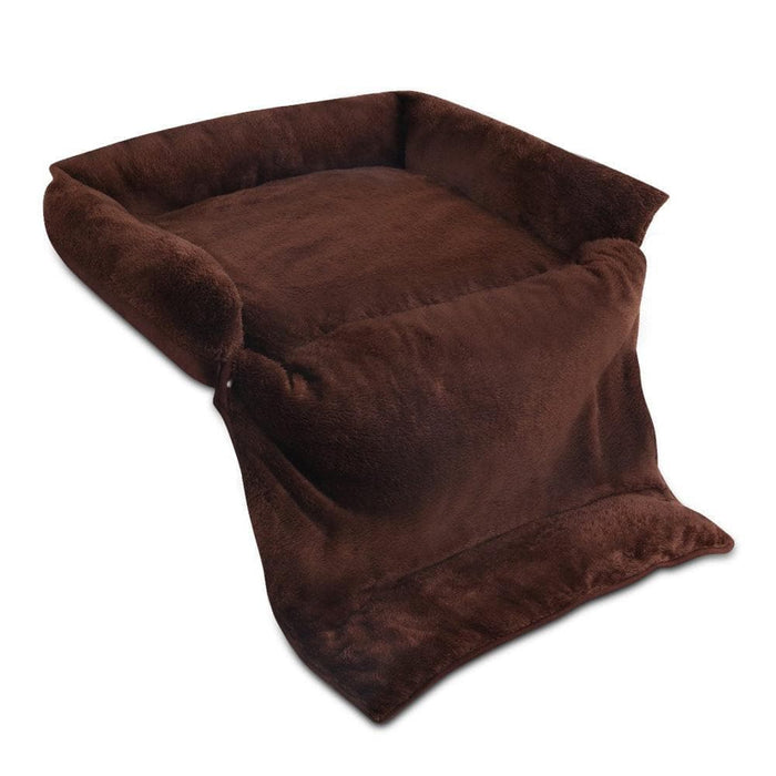 i.Pet Large 3 in 1 Foldable Pet Bed - Brown - Ramp Champ - Ramp Champ
