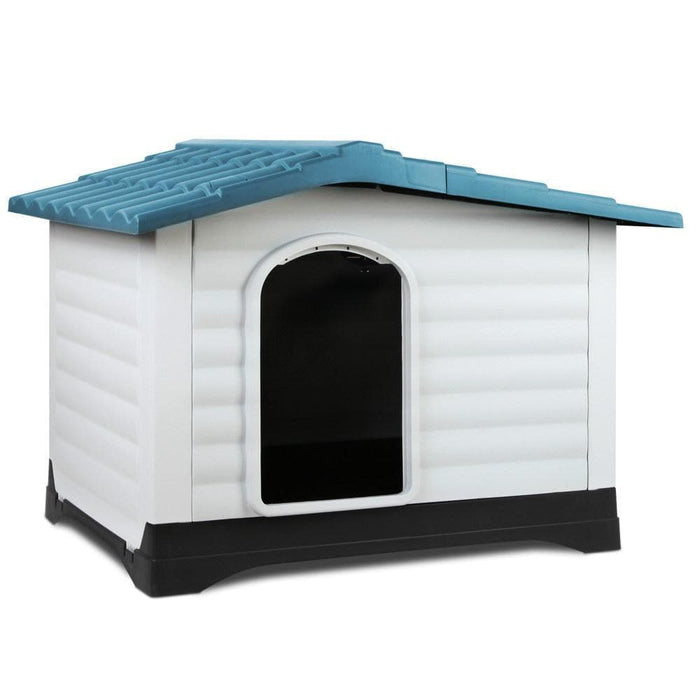 i.Pet Weatherproof Pet Kennel - Blue - Ramp Champ - Ramp Champ
