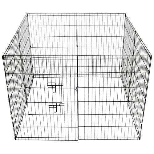 i.Pet 36inch Pet Play Pen - Black - Ramp Champ - Ramp Champ