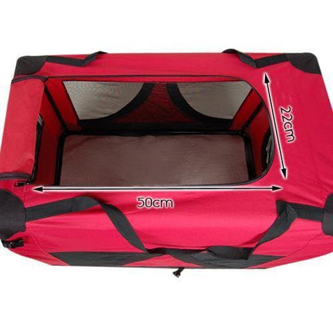 i.Pet Large Portable Soft Pet Carrier- Red