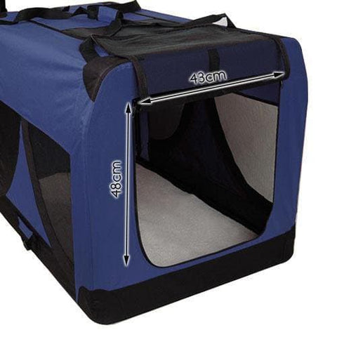 i.Pet Extra Large Portable Soft Pet Carrier- Blue