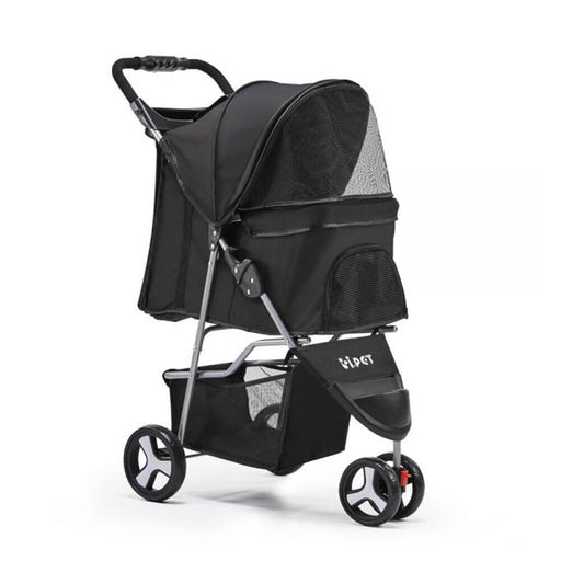 i.Pet 3-Wheel Foldable Pet Stroller - Black - Ramp Champ - Ramp Champ