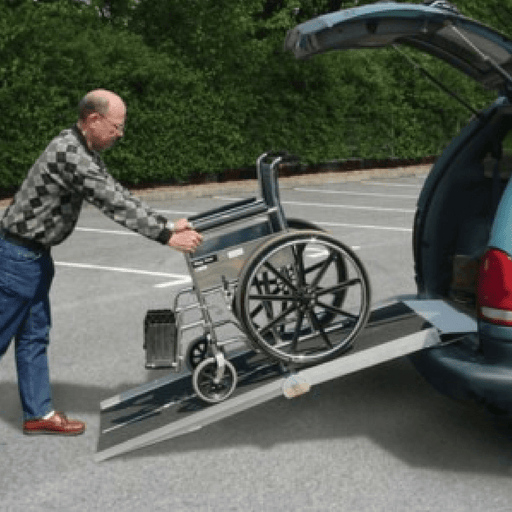 PVI Aluminium Multi-Fold Rear Door Wheelchair Van Ramp, 318kg & 360 Capacities - PVI - Ramp Champ