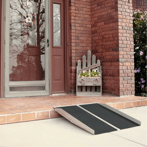 PVI Aluminium Solid Threshold Ramp, 360kg Capacity - PVI - Ramp Champ