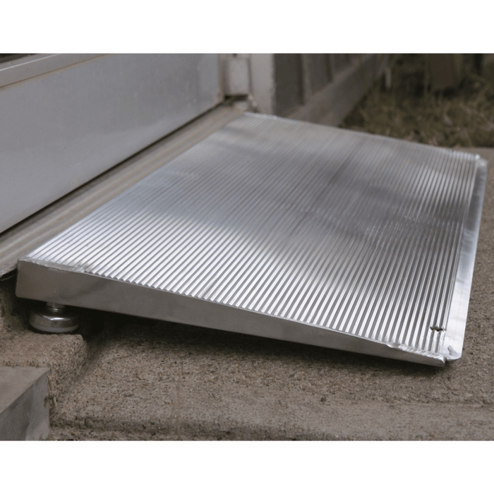 PVI Mobility Ramps PVI ELEV8 Aluminium Adjustable Solid Self-Supporting Threshold Ramp (Open Box)